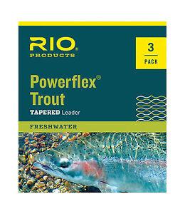 1X Nylon 15 lb environ 6.80 kg Rio 2-Pack Powerflex plus truite 7.5 Ft Fly Fishing Leaders environ 2.29 m