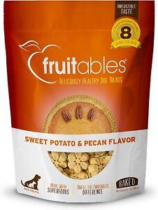 Fruitables 7 oz. Crunchy Baked Dog Treats Sweet Potato & Pecan Flavor