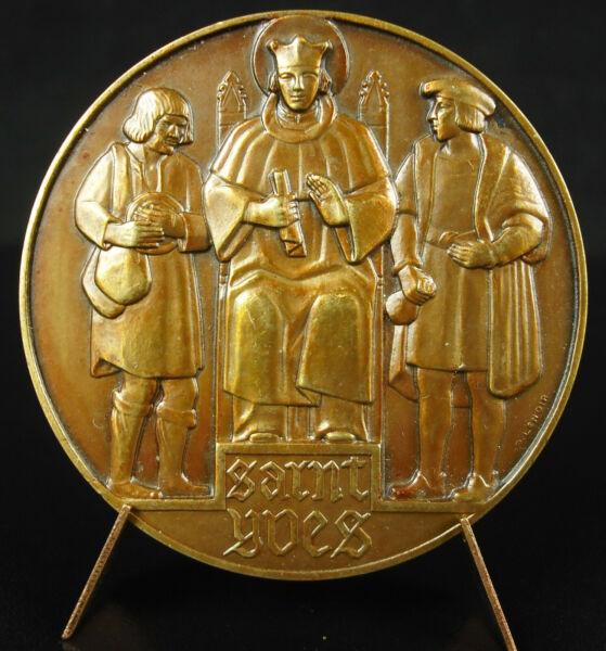 100% Vrai Médaille Mausolé Saint Erwan Yves Hélory Kermartin Tréguier Bretagne 1940 Medal