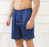 Intro Sale 10% Men Satin Silk Pajama Sleep Lounge Pants Shorts M L Xl 2xl 3xl