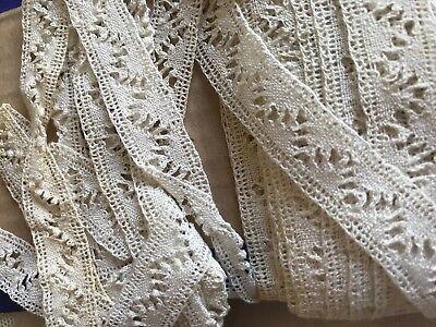 Vintage Bobbin Tape Lace 1yd Cream Lace Trim Vintage Wedding Costume Design NOS