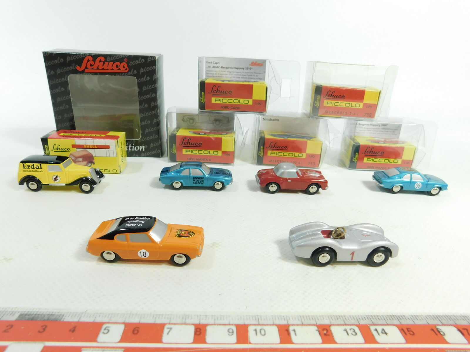Bd277-1 X Schuco 1 90 Model 01523 ERDAL +702 +713 MB + Ford + Opel ,Very Good