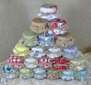 Image Is Loading Fl Covers For Mini Jam Jars Wedding Favours