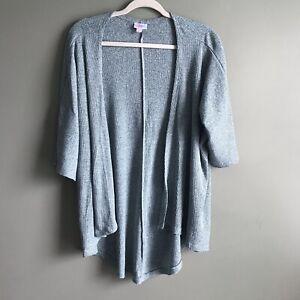 Lularoe-Lindsey-Kimono-Top-Solid-Soft-Heather-Blu-Taglia-Small-Cardigan-Wrap-GUC