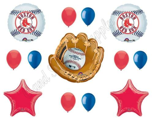 BOSTON RED SOX Baseball BIRTHDAY Party Balloons Decoration Supplies Series Socks