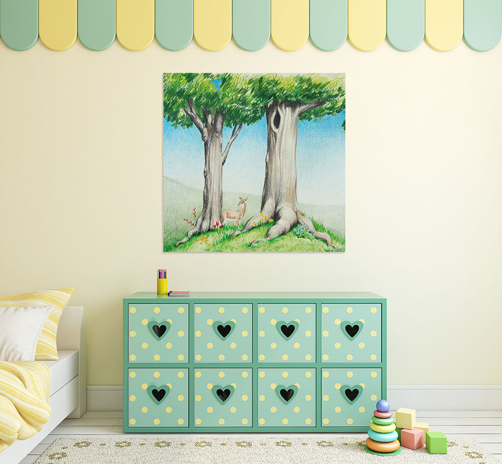 3D Karikatur Grner Baum Bild 8 Fototapeten Wandbild BildTapete AJSTORE DE Lemon
