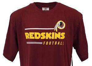 best authentic 4421f f286f Image is loading WASHINGTON-REDSKINS-Majestic-Short-Sleeve-T-Shirt-Men-