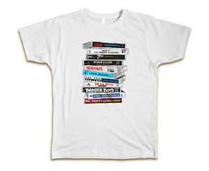 Old-School-Cassette-Tapes-Hip-Hop-Custom-Mens-T-Shirt-Tee-S-3XL-New-White