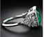 925-Sterling-Silver-4-72-ct-Emerald-Cut-Antique-Art-Deco-Vintage-Engagement-Ring thumbnail 2