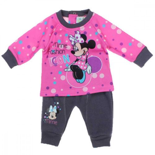 NEU Disney Minnie Maus Baby Mädchen Freizeitanzug 2tlg Set Gr.62 68 80 86 92 cm