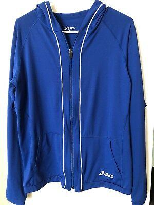 Asics Women's Full Zip Jacket, Royal Blue, Size Xl