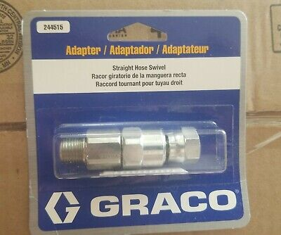 "Replaces Graco 224457 /& 244515 straight Gun /& hose swivel 1//4/"" 3600 psi"