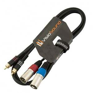 2-x-Male-XLR-to-2-x-RCA-Gold-Phono-Plug-Twin-Lead-Audio-Signal-Patch-Cable