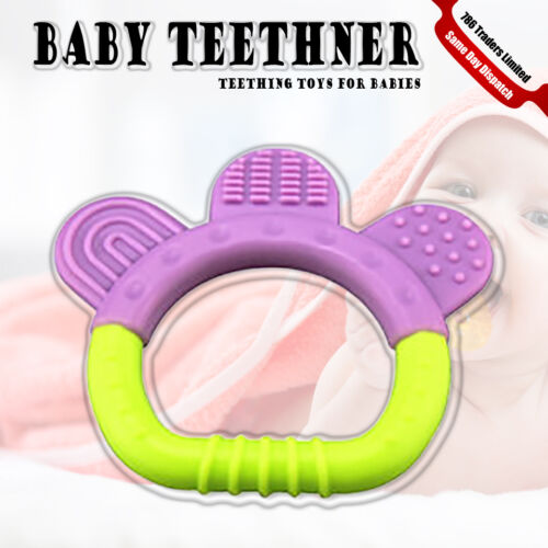 TEETHER RATTLES ROUND RATTLE BABY RATTLE TEETHER 6 MONTHS TEXTURED EASY GRIP TOY