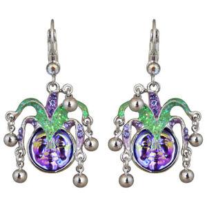 Kirks-Folly-Mardi-Gras-Seaview-Water-Moon-Leverback-Earrings-Silvertone