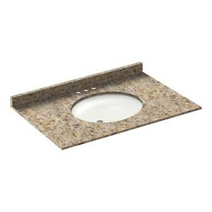 37-034-Vanity-top-with-sink-4-034-spread-Granite-Wheat-by-LessCare-PICK-UP-ONLY