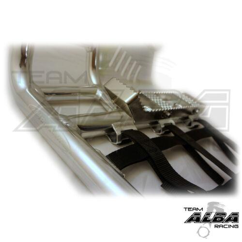 Honda TRX 250R  Nerf Bars  86-87  Pro Peg  Alba Pro Elite  Silver//BlK  218-T7-SB