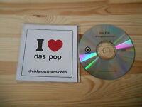 CD NDW Das Pop - Dreiklangsdimensionen (1 Song) Promo PIAS