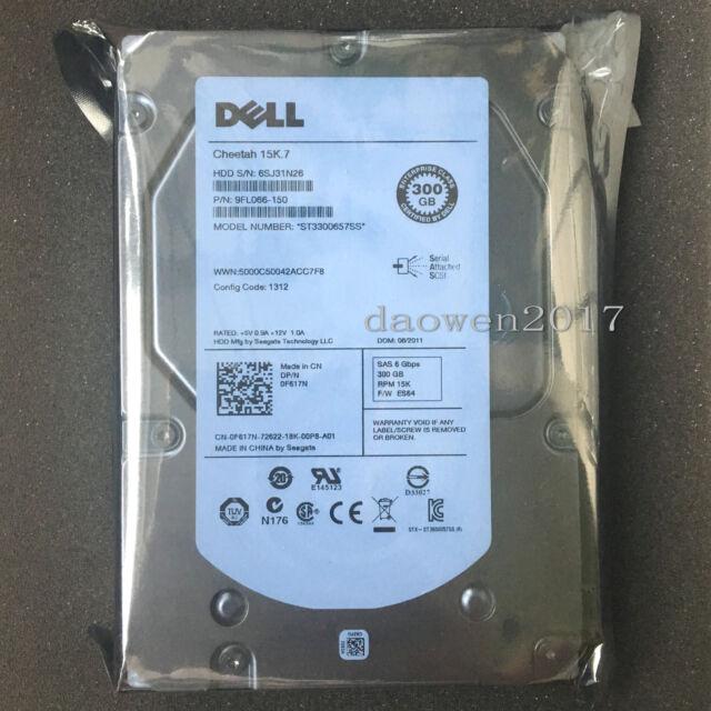 """Dell 15K.7 300GB 15K 3.5"""" ST3300657SS SAS Hard Drive"""
