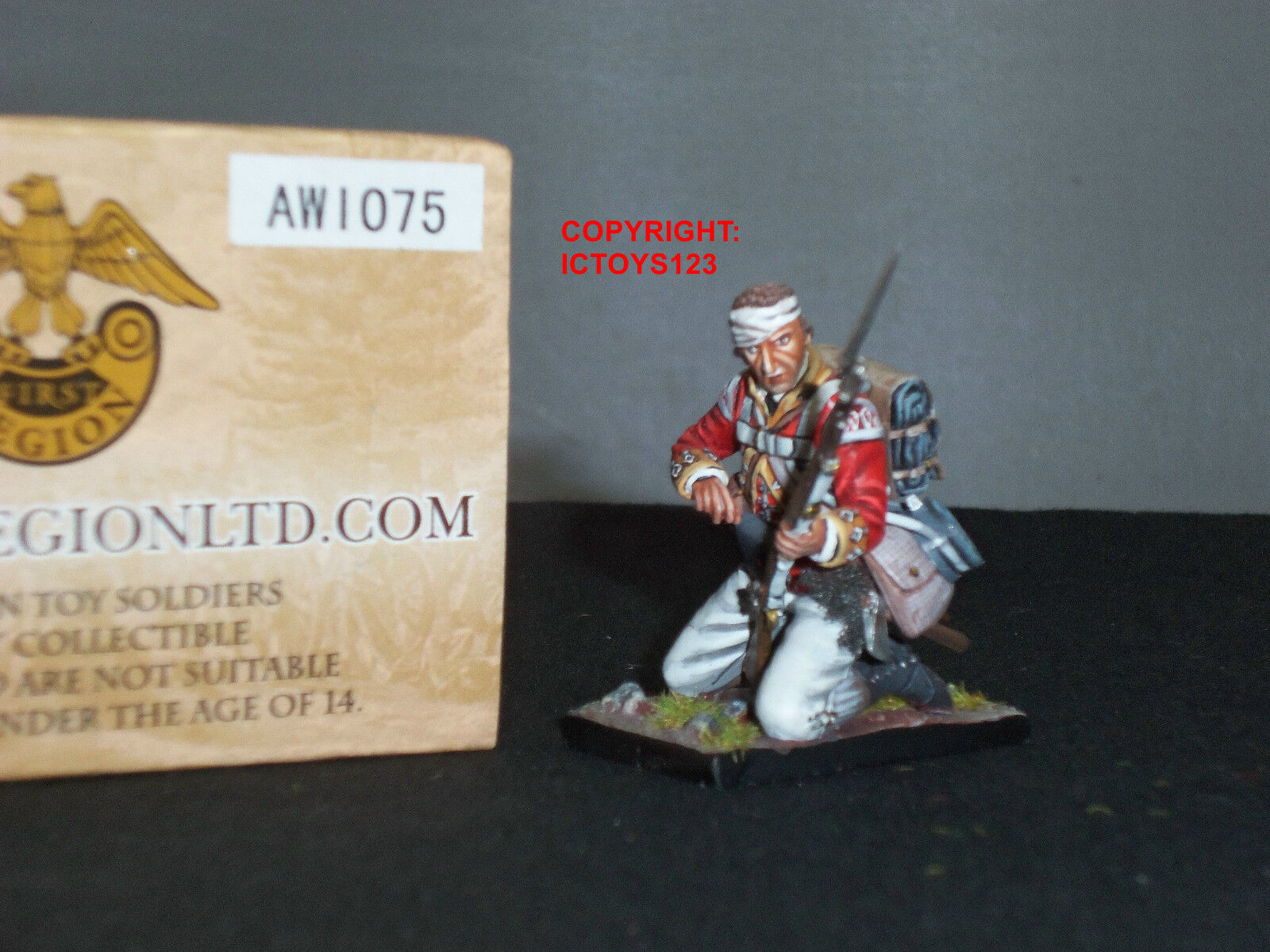 FIRST LEGION AWI075 BRITISH 38TH REGIMENT LIGHT COMPANY KNEELING LOADING FIGURE