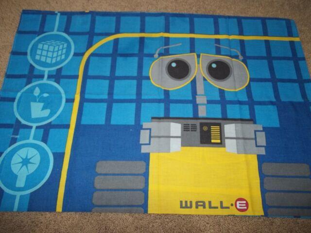 Vintage Disney WALL-E Walle Cartoon Character Reversible Pillow Case {Fabric}