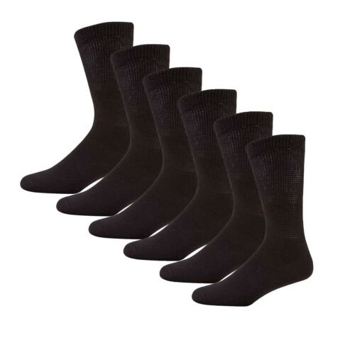 Extra Wide Socks Pack Of 6 Men/'s Loosetop Diabetic No Elastic Specialist Sock
