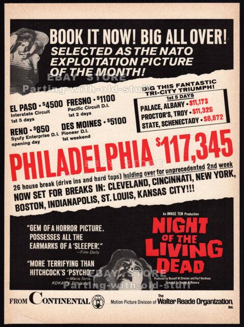 NIGHT OF THE LIVING DEAD__Original 1968 Trade Print AD / box office movie promo