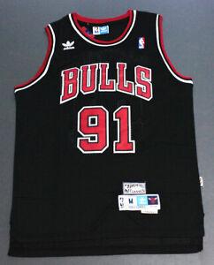 Retro Dennis Rodman #91 Chicago Bulls Basketball Jersey Stitched Black