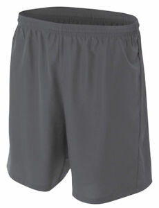 A4 Men's Comfortable Moisture Wicking Woven Polyester Soccer Casual Short. N5343