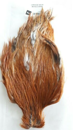 """NAT.RED GAME STREAMERS /& SALMON FLIES #1 /""""CHINESE NECK /"""" SUPER NICE QUALITY"""