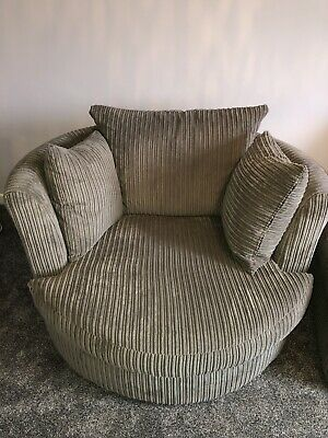 Brand New Large Dfs Swivel Chair Sofa, Spinning Sofa Chair