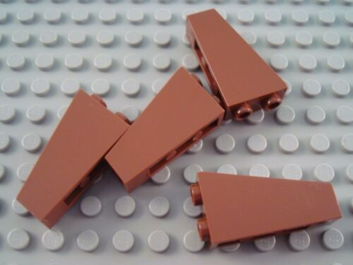 LEGO Lot of 4 Reddish Brown 2x1x3 Inverted Slope Pieces