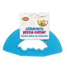 CHILDREN'S PIZZA CUTTER SAFELY  BLUE KIDS FUN PLASTIC PIZZA CUTTER