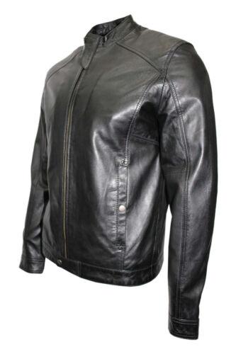chaqueta motorista con para de ajustado cuero estilo diseño de Elegante hombres Nappa Gregor 4xAwORwH