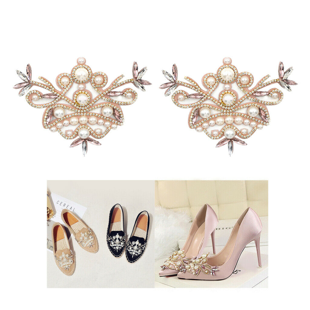 1 Pair Girls Crystal Shoe Charms Clip Wedding High Heel Shoes Ornaments