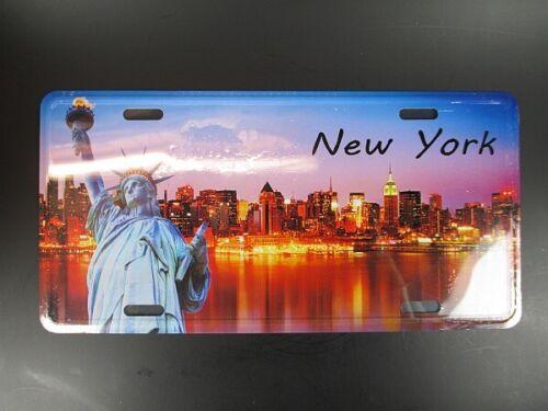 NEW YORK Metall Schild Skyline Freiheitsstatue Metal Plate 30 ,USA Souvenir