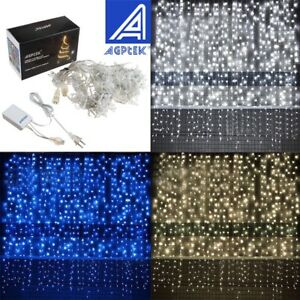 3M-6M-300-600-LED-Window-Curtain-Icicle-String-Fairy-Lights-Wedding-Party-Decor