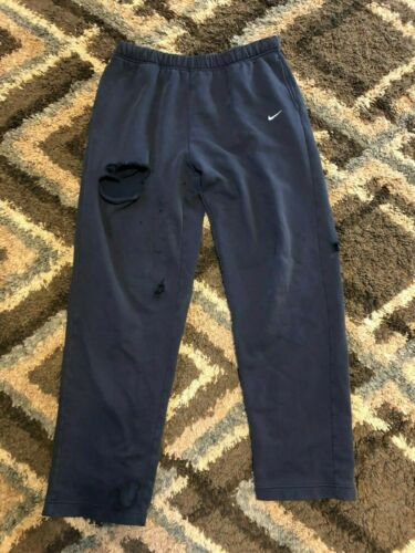 VTG 90s NIKE Gray Tag Blue Athletic Sweatpants Dis