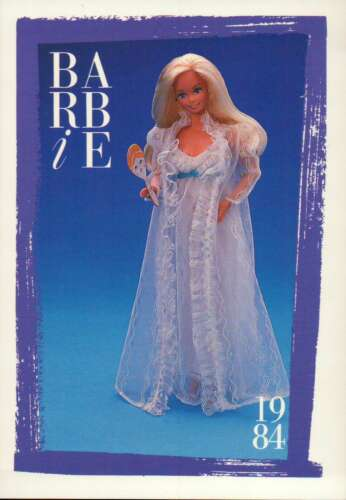 """Barbie Collectible Fashion Card  /"""" Bedtime Beauty /""""  1984"""