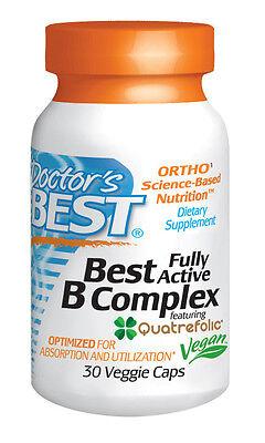 Best Fully Active B Complex - Doctor's Best - 30 Veggie Capsules