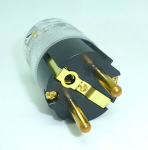 Wattgate-360i-Schuko-Cryo-Treated-Male-Power-Plug-DIY-Power-Cable-Plugs-Clear