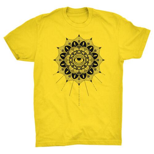 Mandala T Shirt 3rd Eye Hinduism Buddhism Yin Yang Yoga Hamsa Hand Meditation