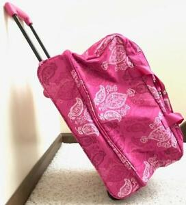 868b76239d7a NWT Vera Bradley LIGHTEN UP WHEELED CARRY ON LUGGAGE ~STAMPED ...