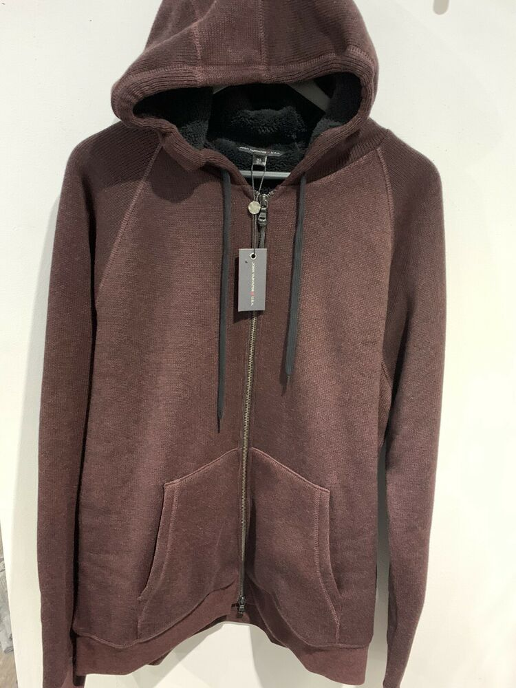 John Varvatos Usa Sherpa Sweat à Capuche