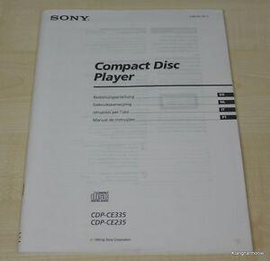 Sony CDP-CE235 / CDP-CE335 Bedienungsanleitung (mehrsprachig, auch in Deutsch)