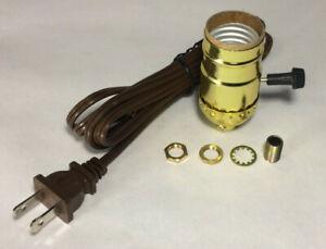 Terrific New Vintage Table Lamp Rewiring Kit W Brass Plated 3 Way Socket Wiring Digital Resources Nekoutcompassionincorg
