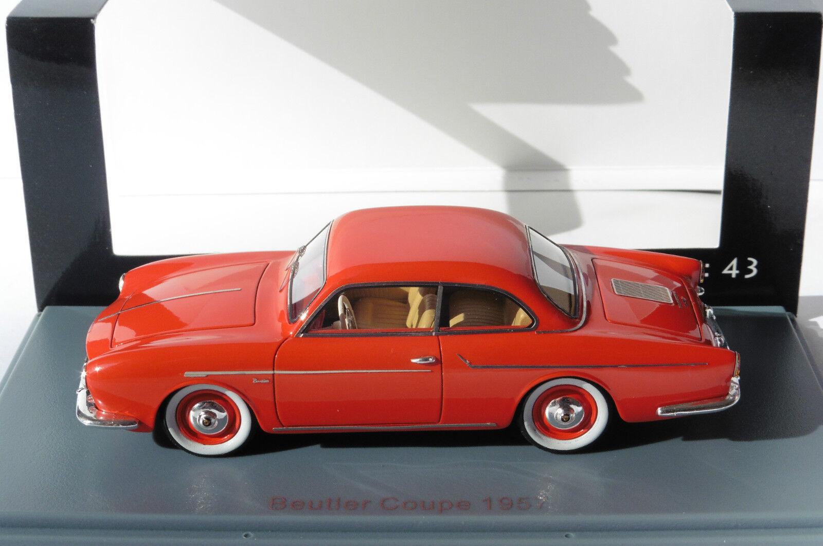 PORSCHE BEUTLER 1600 COUPE 1957 röd NEO 46205  43 VW VOLKSWAGEN röd röd