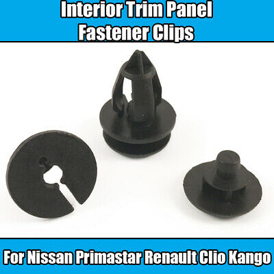 RENAULT Exterior Side trim panel clips 10X
