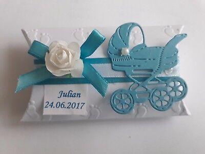 Gastgeschenke,Taufe,Geburt,Baby Shower Geburtstag mit 5 Mandeln gefüllt