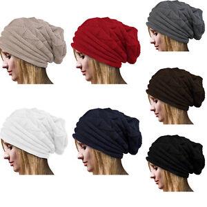 81ffef80f9c Fashion Women Beanie Knit Ski Hat Oversized Baggy Long Slouchy Cap ...